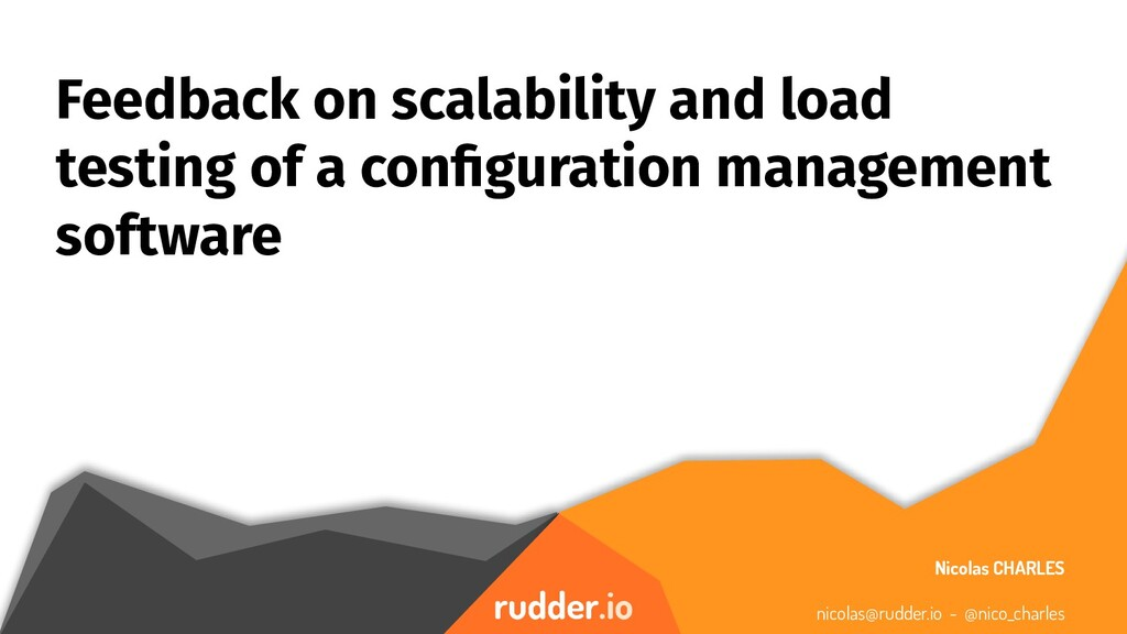 rudder.io Feedback on scalability and load test...