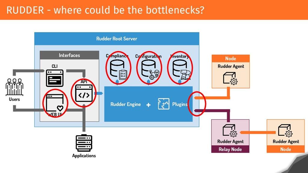 RUDDER - where could be the bottlenecks? Rudder...