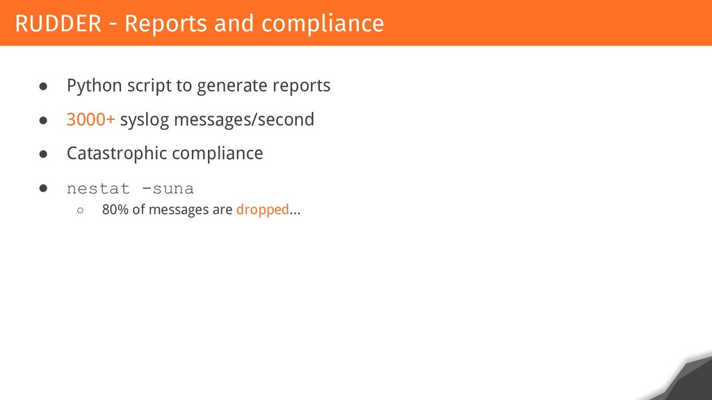 ● Python script to generate reports ● 3000+ sys...