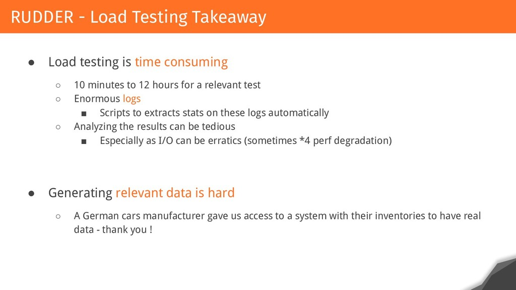 ● Load testing is time consuming ○ 10 minutes t...