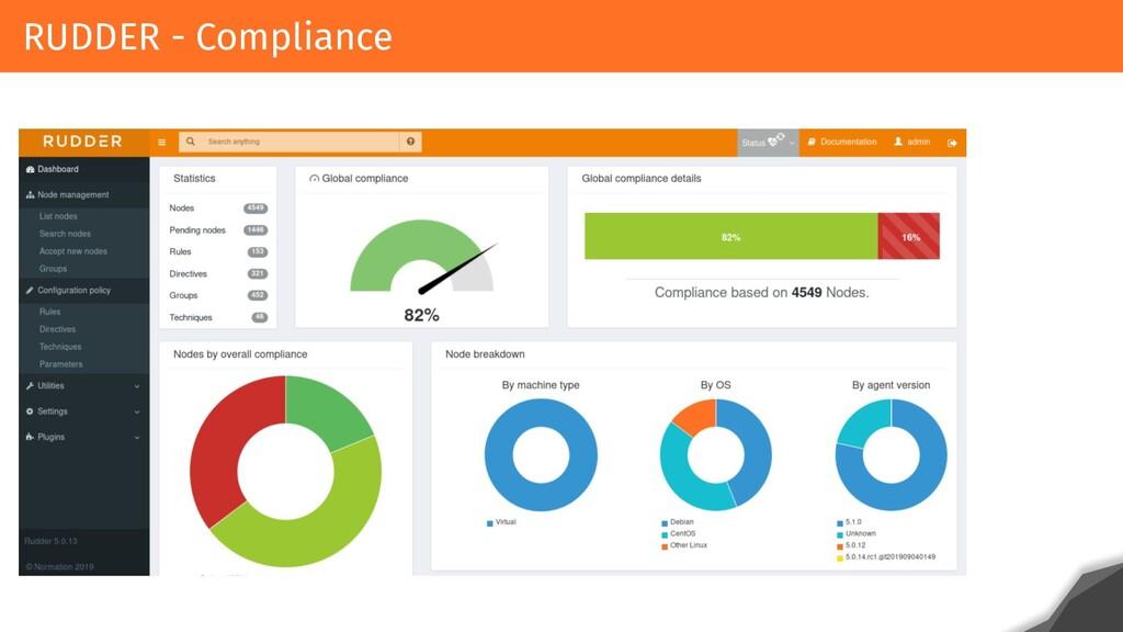 RUDDER - Compliance