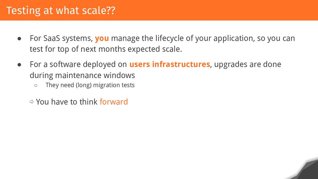 ● For SaaS systems, you manage the lifecycle of...