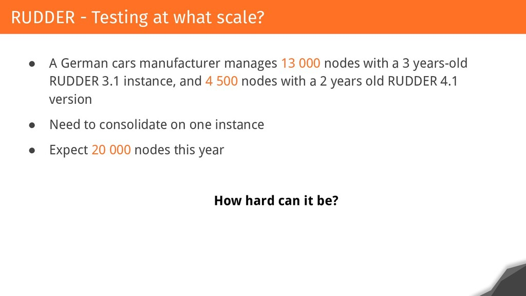 ● A German cars manufacturer manages 13 000 nod...
