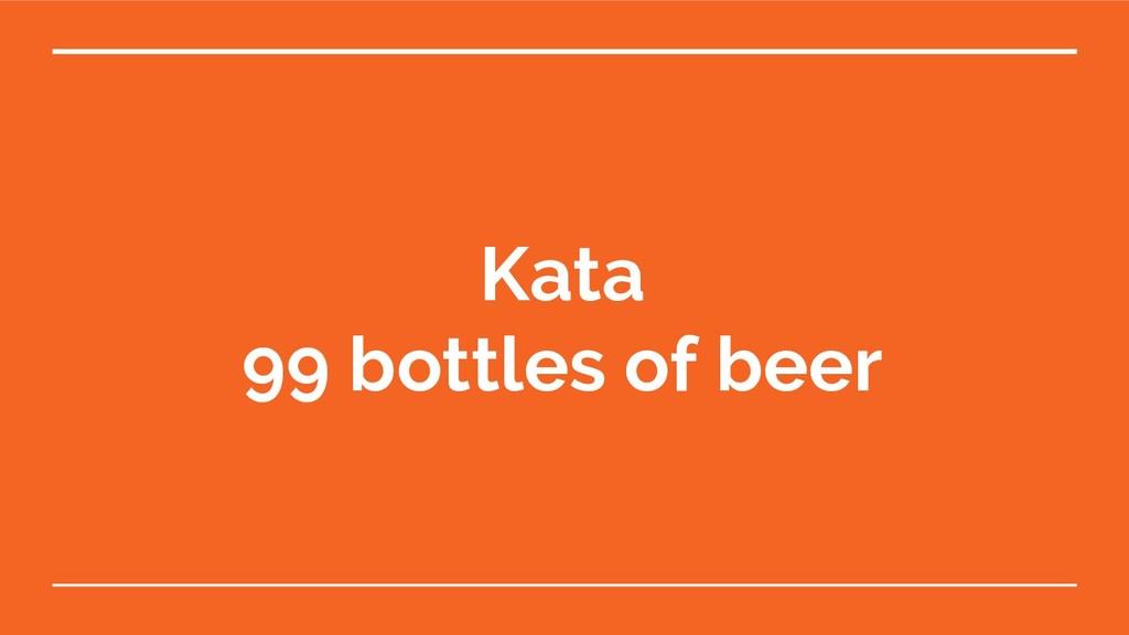 Kata 99 bottles of beer