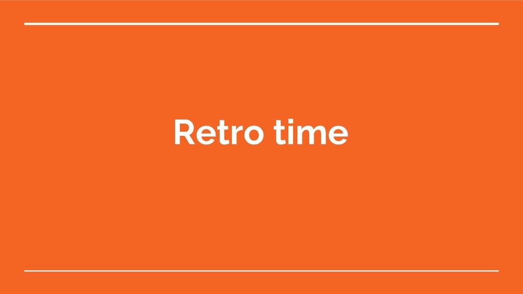 Retro time
