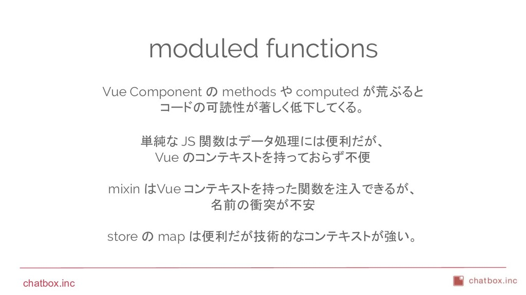 chatbox.inc moduled functions Vue Component の m...