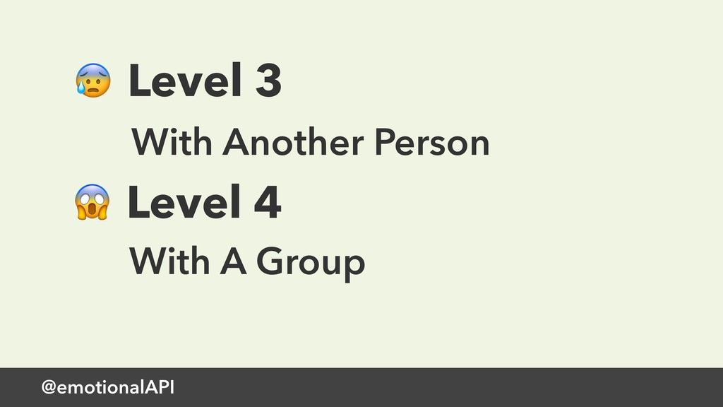 @emotionalAPI  Level 3 With Another Person  Lev...