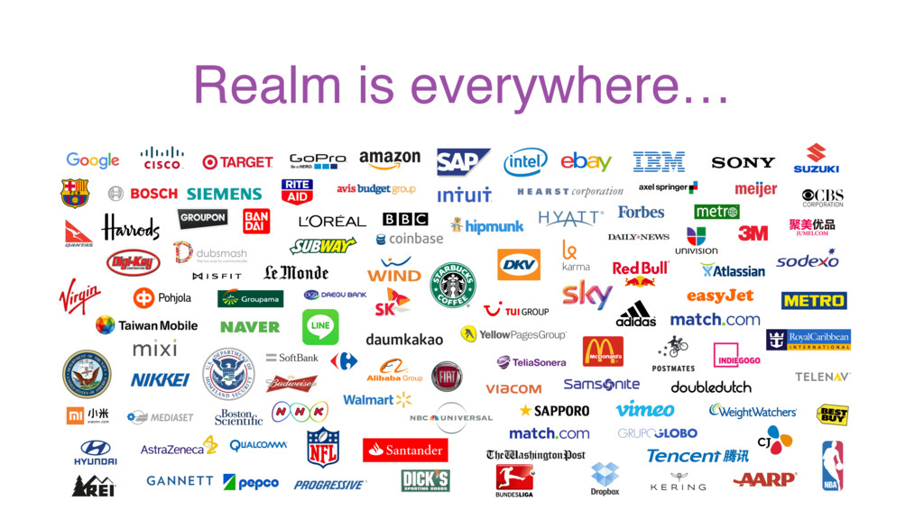Realm is everywhere…