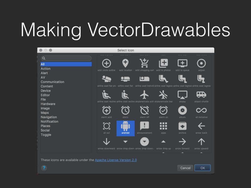 Making VectorDrawables