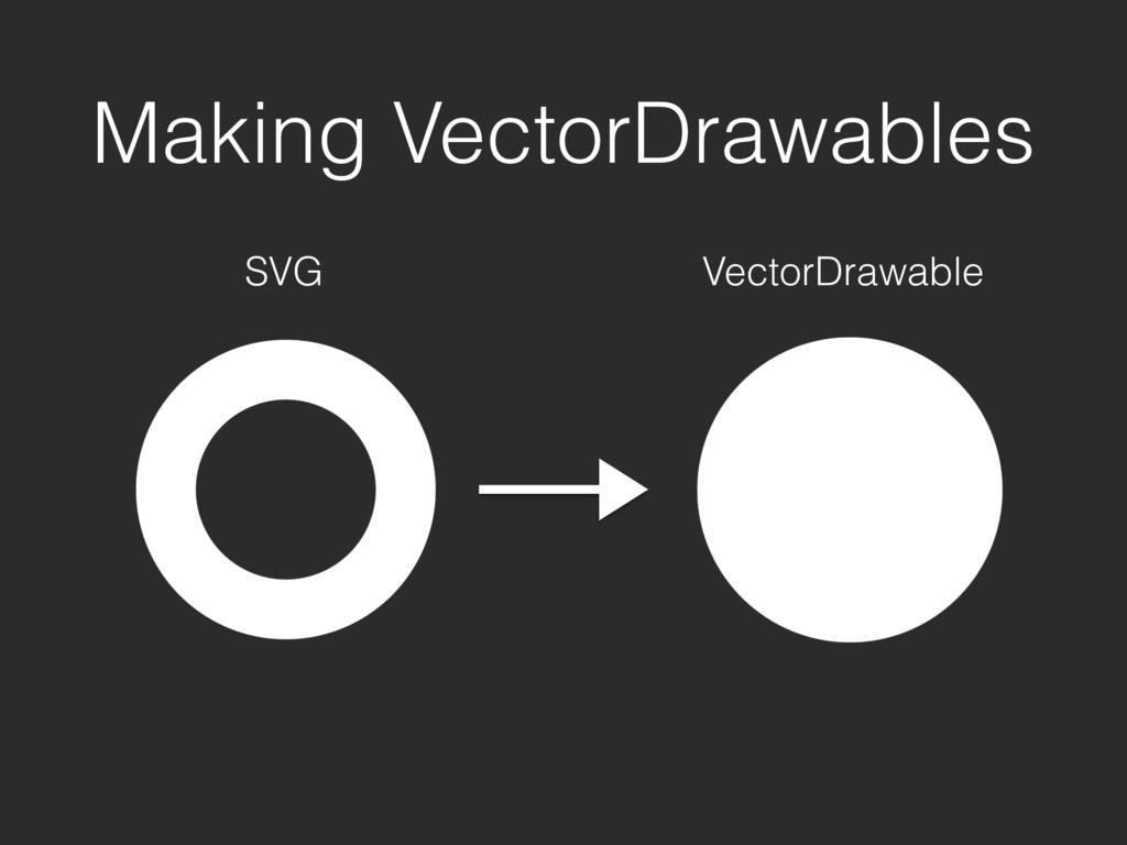 Making VectorDrawables SVG VectorDrawable