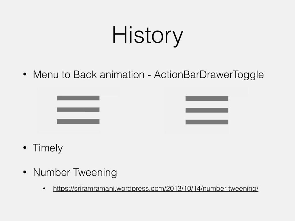 History • Menu to Back animation - ActionBarDra...