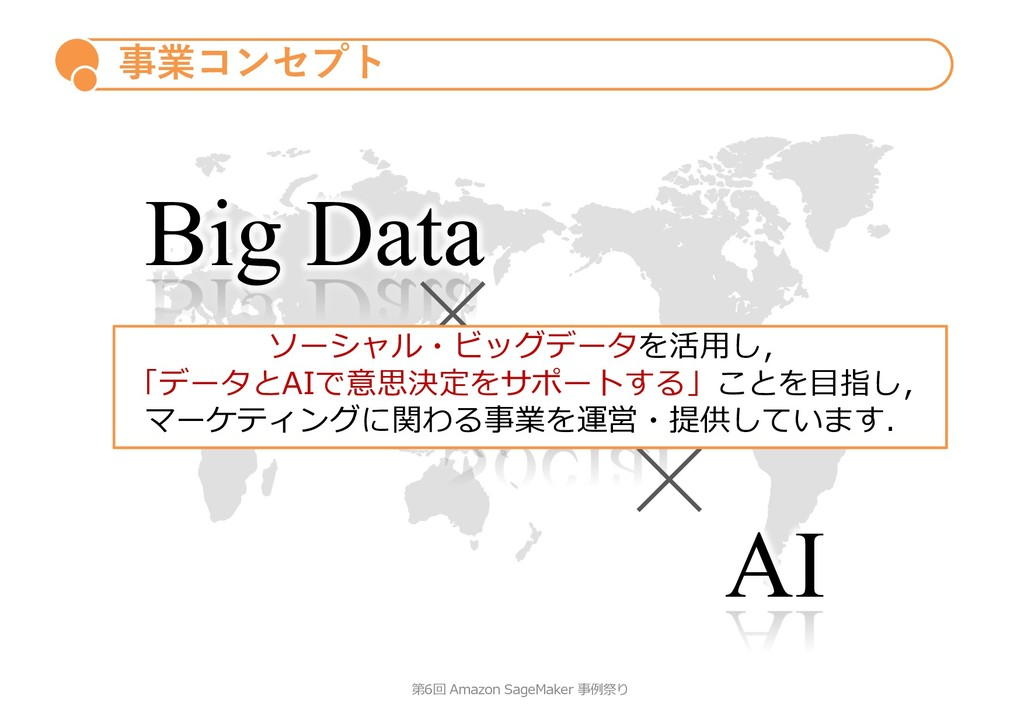 Big Data Social AI 事業コンセプト 第6回 Amazon SageMaker...