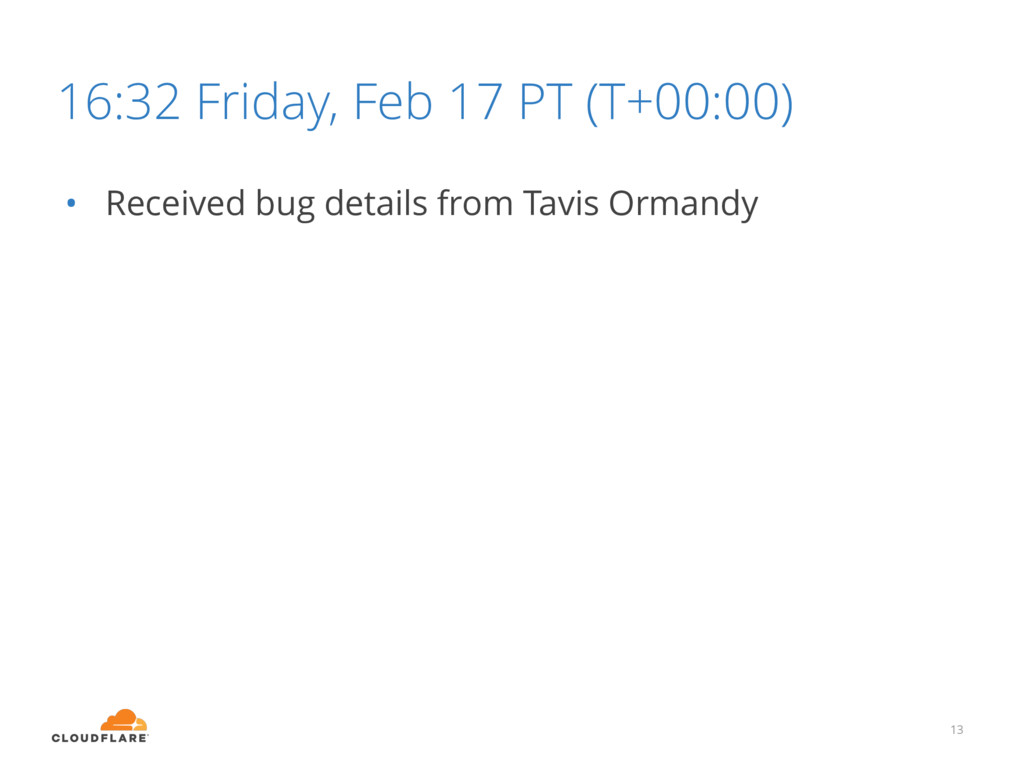 16:32 Friday, Feb 17 PT (T+00:00) 13 • Received...