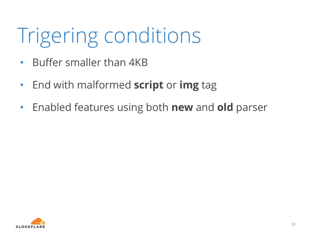Trigering conditions • Buffer smaller than 4KB •...