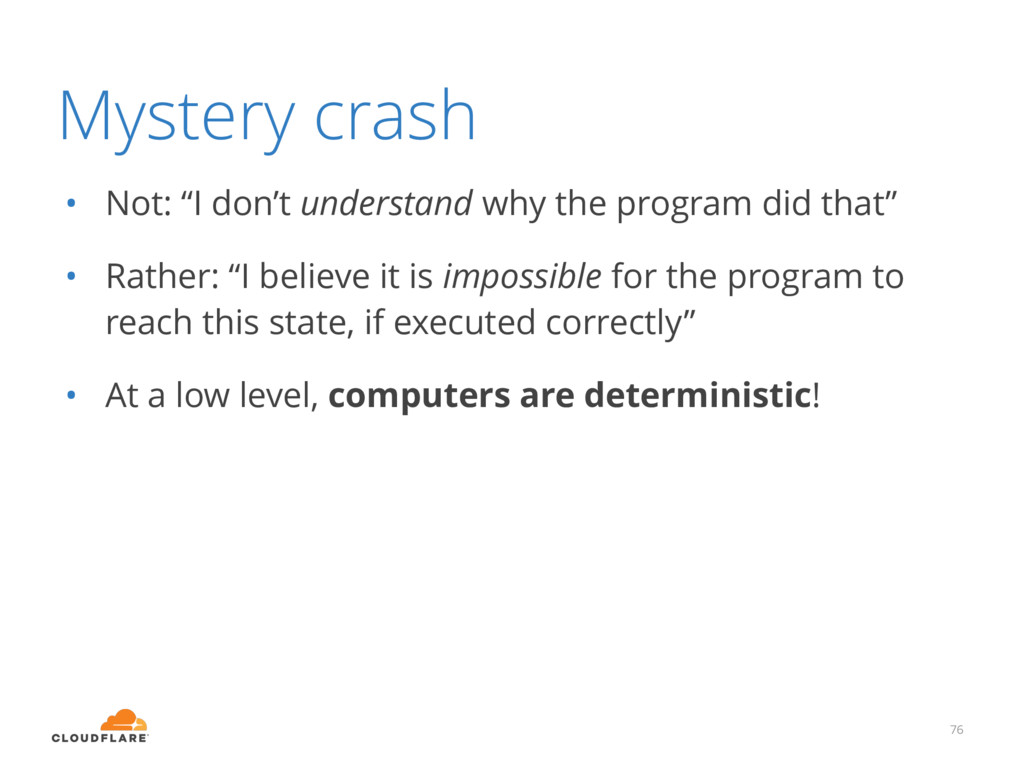 """Mystery crash • Not: """"I don't understand why th..."""