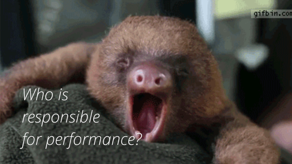 Who is responsible for performance?