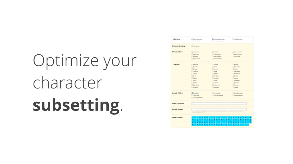 Optimize your character 