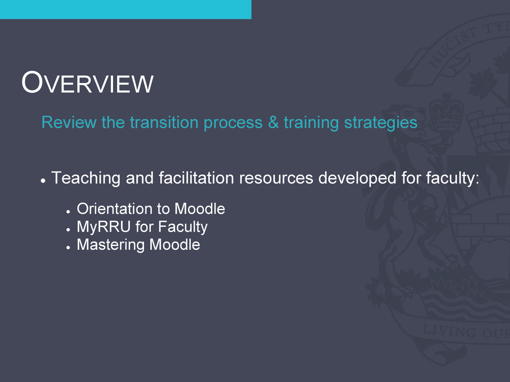 Review the transition process & training strate...