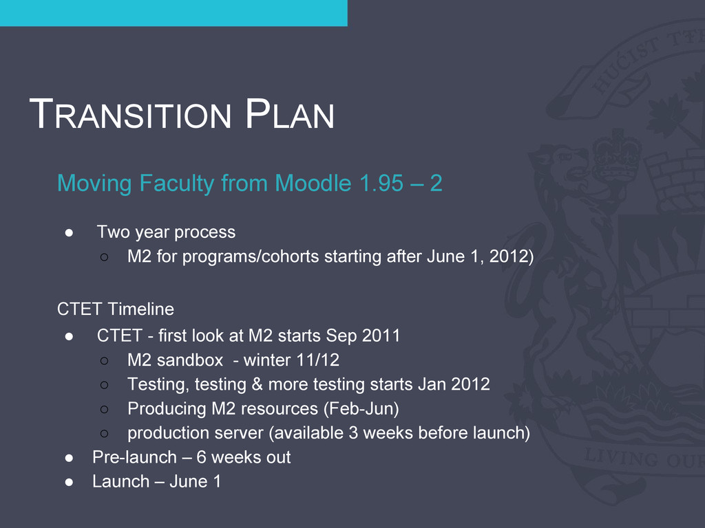 Moving Faculty from Moodle 1.95 – 2 TRANSITION ...