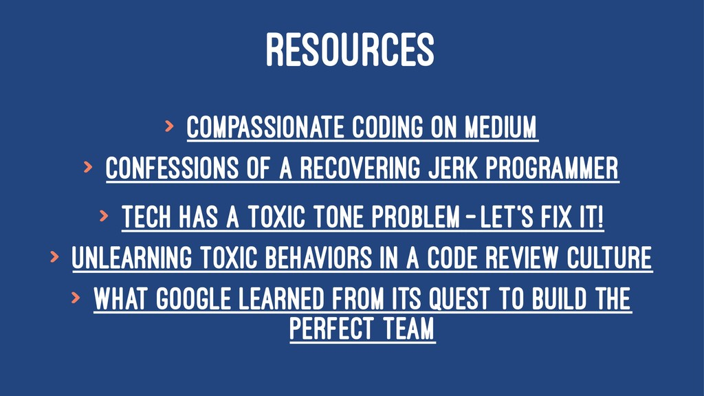 RESOURCES > Compassionate Coding on Medium > Co...