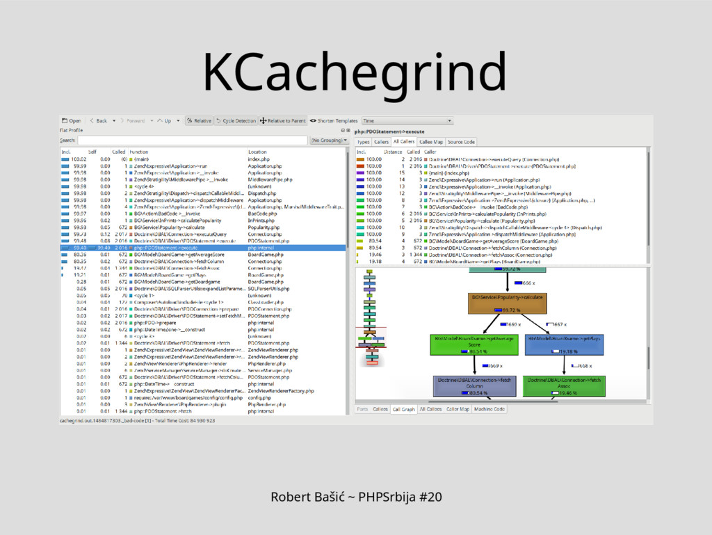 Robert Bašić ~ PHPSrbija #20 KCachegrind