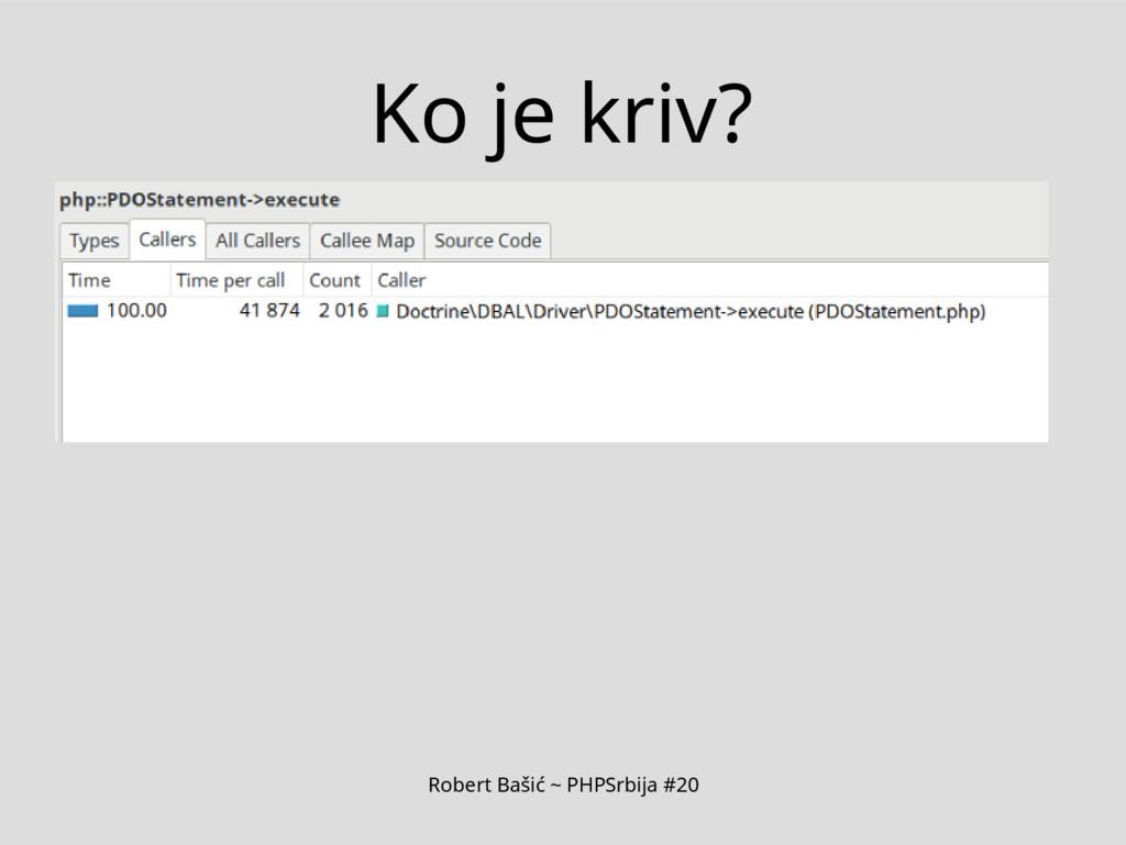 Robert Bašić ~ PHPSrbija #20 Ko je kriv?