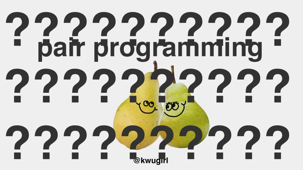 @kwugirl pair programming ?????????? ??????????...