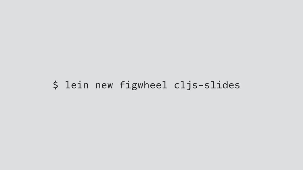 $ lein new figwheel cljs-slides