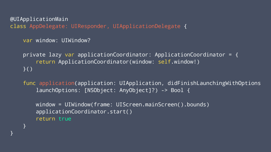@UIApplicationMain class AppDelegate: UIRespond...