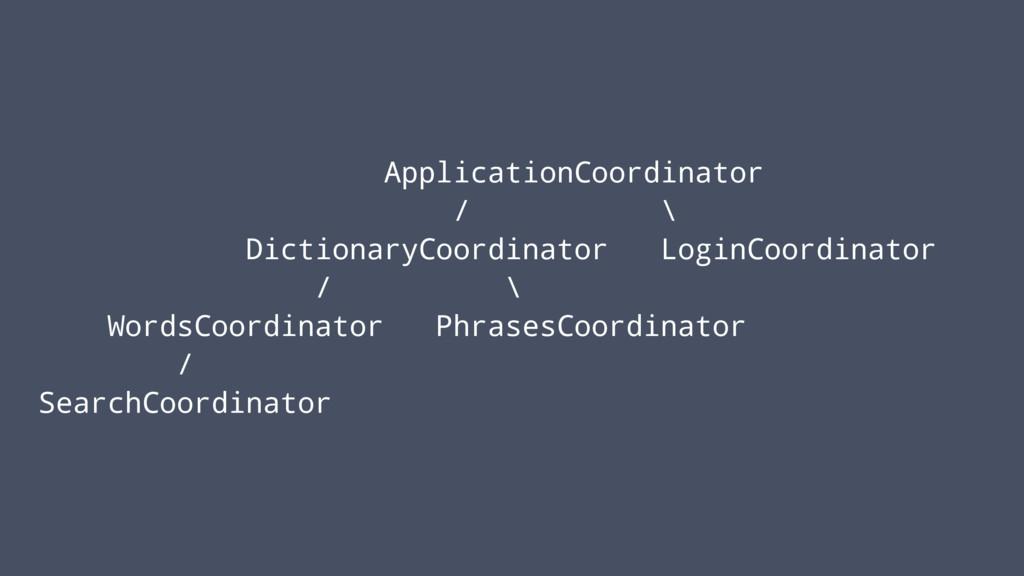 ApplicationCoordinator / \ DictionaryCoordinato...