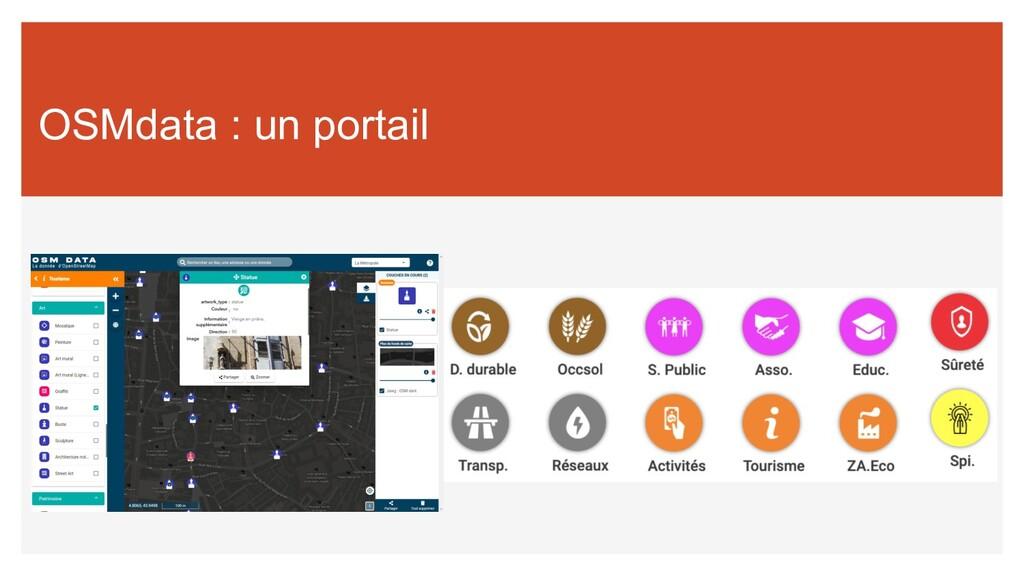 OSMdata : un portail