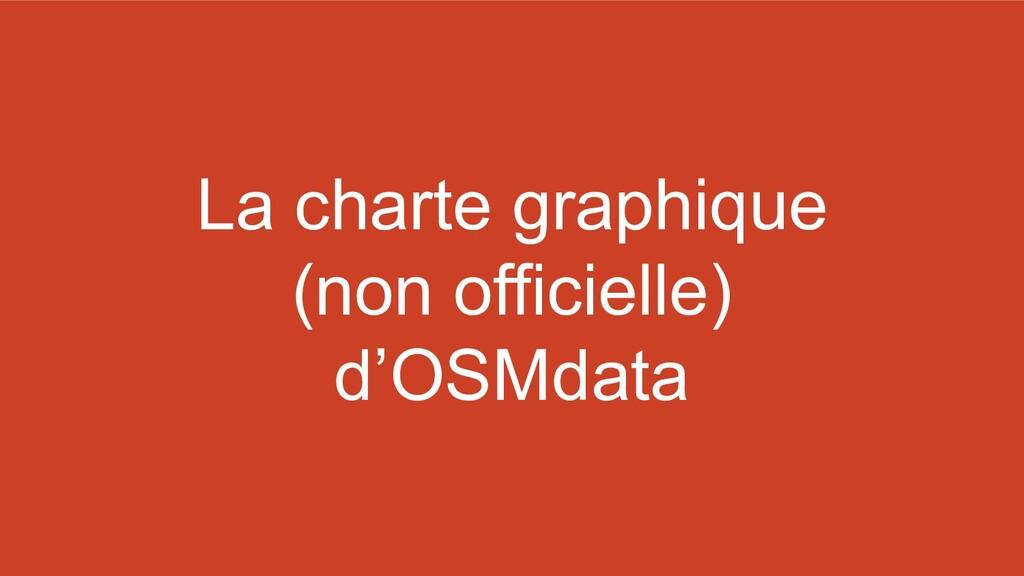 La charte graphique (non officielle) d'OSMdata