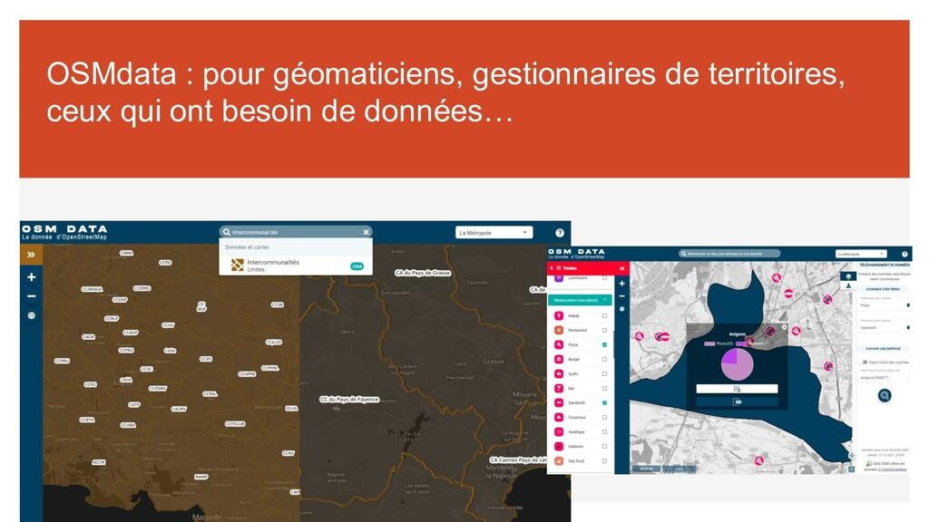 OSMdata : pour géomaticiens, gestionnaires de t...