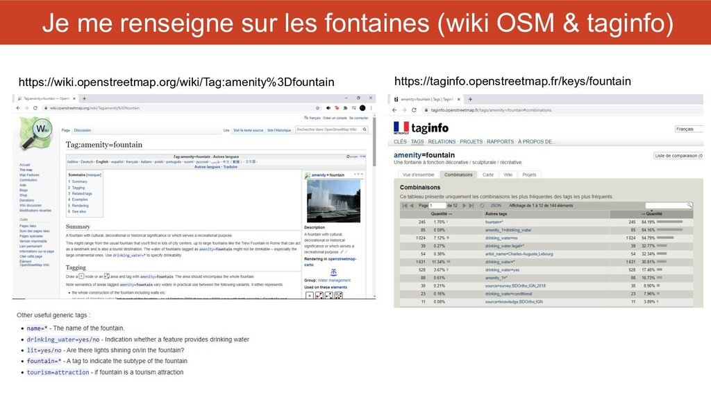 Je me renseigne sur les fontaines (wiki OSM & t...