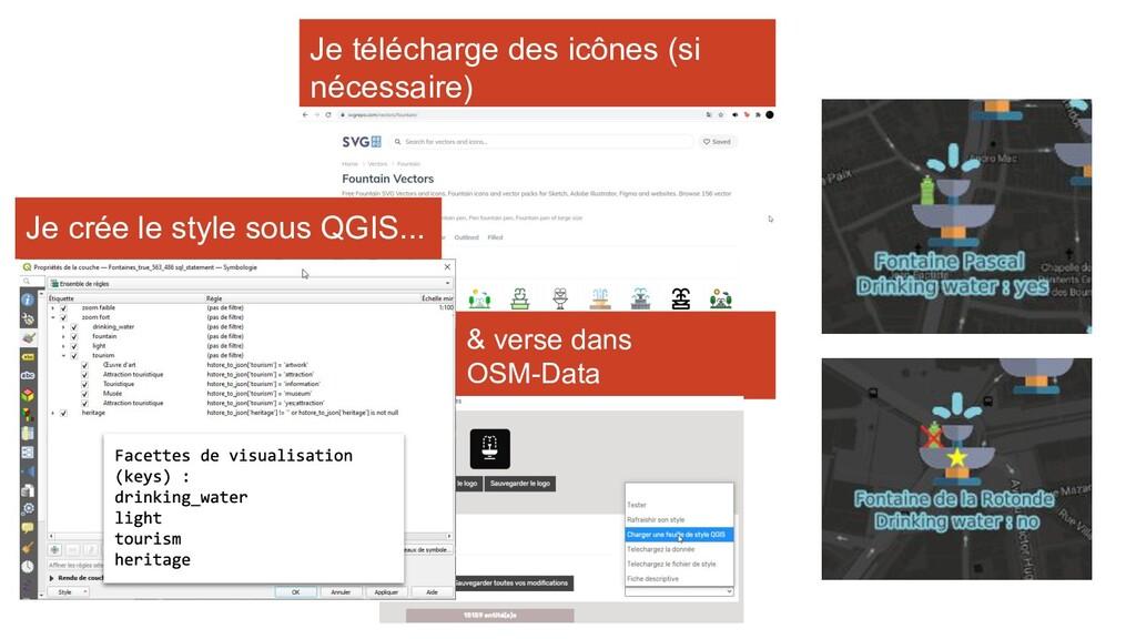 & verse dans OSM-Data Je crée le style sous QGI...