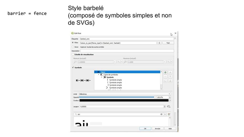 Style barbelé (composé de symboles simples et n...