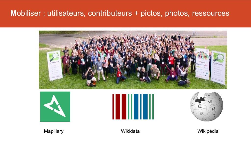 Mobiliser : utilisateurs, contributeurs + picto...