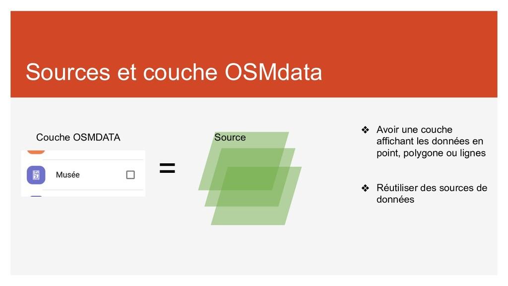 Sources et couche OSMdata Couche OSMDATA Source...
