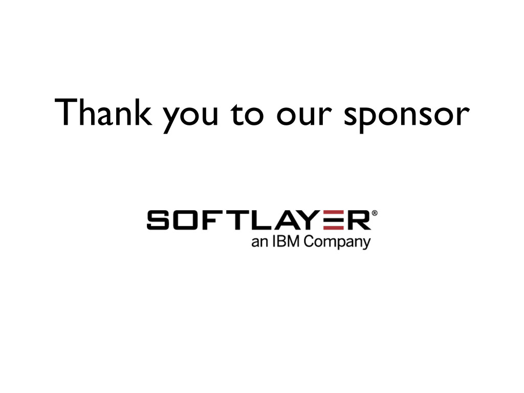Thank you to our sponsor
