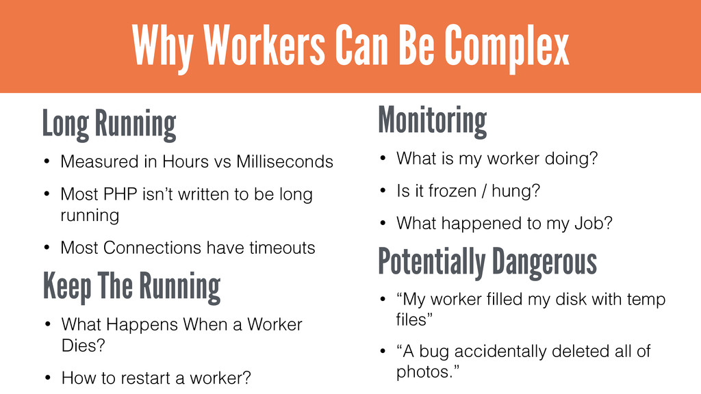 Why Workers Can Be Complex Long Running • Measu...