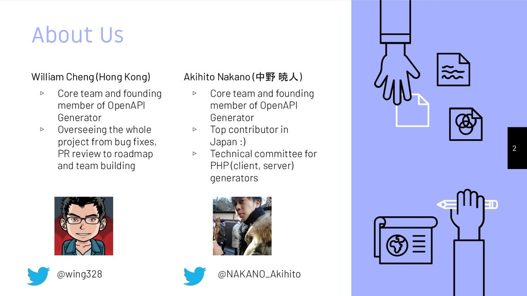 About Us Akihito Nakano (中野 暁人) ▹ Core team and...