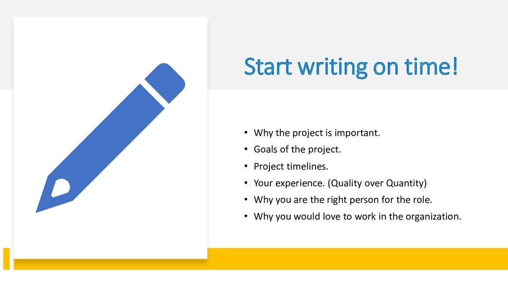Interswitch - INTERNAL Start writing on time! •...