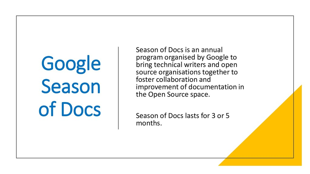 Interswitch - INTERNAL Google Season of Docs Se...