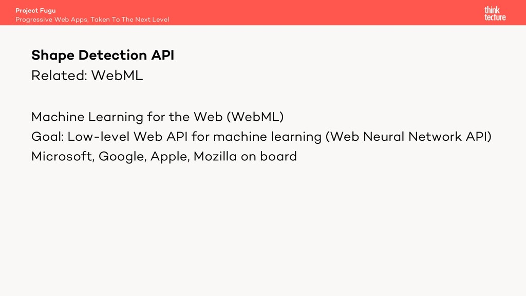Related: WebML Machine Learning for the Web (We...