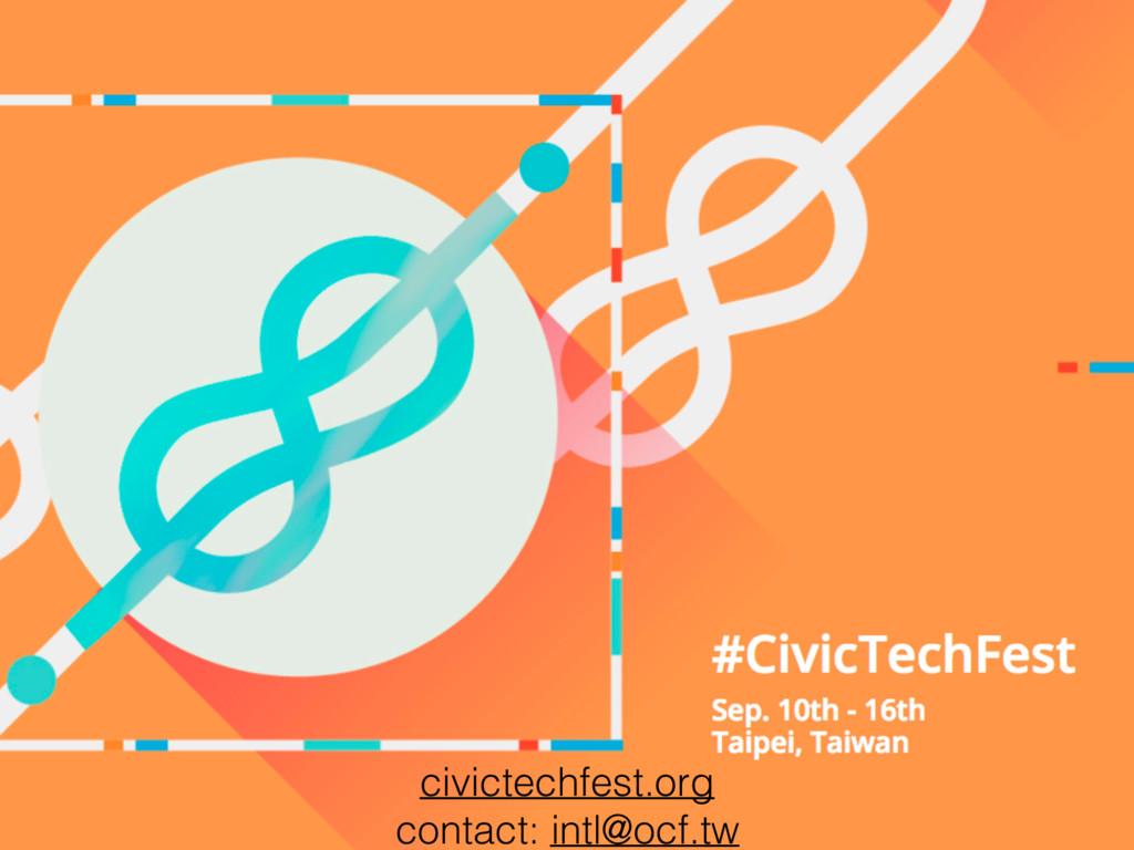 civictechfest.org contact: intl@ocf.tw
