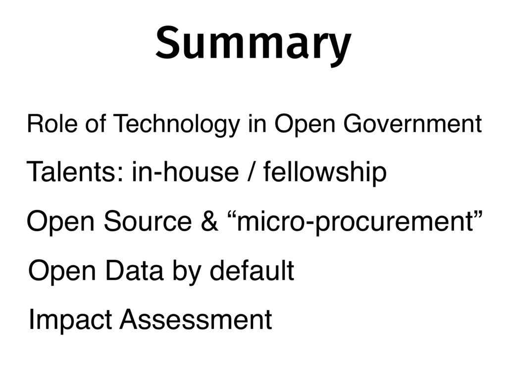 Summary Talents: in-house / fellowship Open Sou...