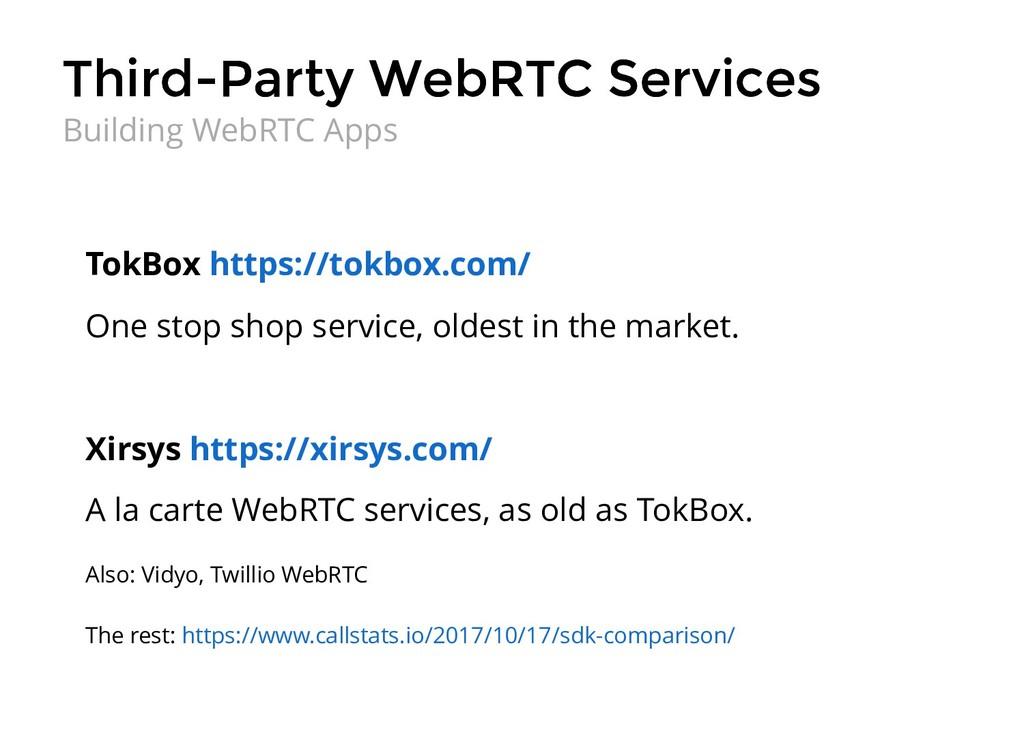 Third-Party WebRTC Services Third-Party WebRTC ...