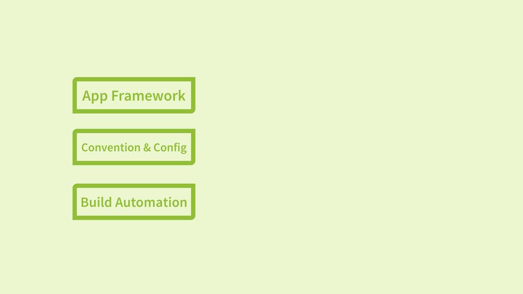 App Framework Convention & Config Build Automat...