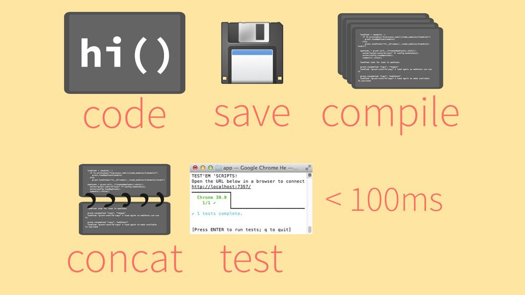 test < 100ms hi() code ! save loadTask = (modul...
