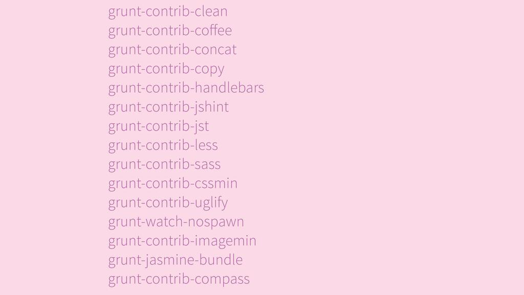 grunt-contrib-clean grunt-contrib-coffee grunt-...